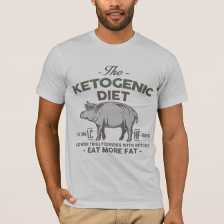 KETOGENIC DIET: Eat Fat - Triglycerides, Camo Pig T-Shirt