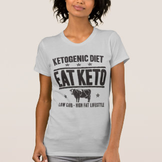 KETOGENIC DIET: Eat Keto - Eat Low Carb, Onyx Cow T-Shirt