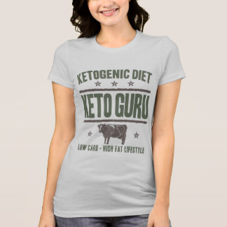 KETOGENIC DIET: Keto Guru High Fat Life, Camo Cow T-Shirt