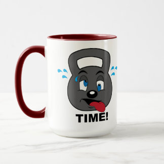 Kettle bell character mug