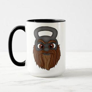 Kettle bell character (The Beard mug) Mug