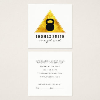 Kettle Bell Personal Trainer Appointment Square Business Card