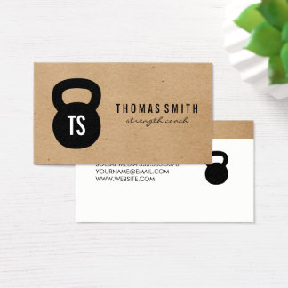 Kettle Bell Personal Trainer Business Card