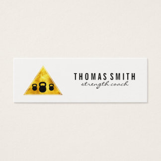 Kettle Bell Personal Trainer Golden Triangle Mini Business Card