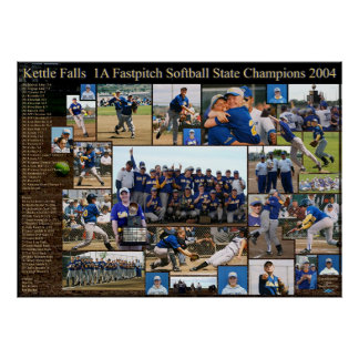 Kettle Falls 1A Fastpitch State Champions Poster