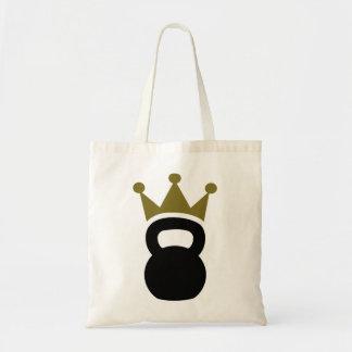 Kettlebell crown tote bag