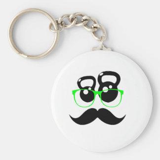 Kettlebell Disguise Green Key Chain