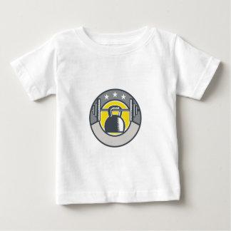 Kettlebell Hanging Barbell Circle Retro Baby T-Shirt
