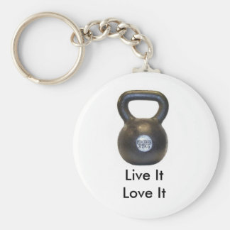 kettlebell, Live ItLove It Keychain