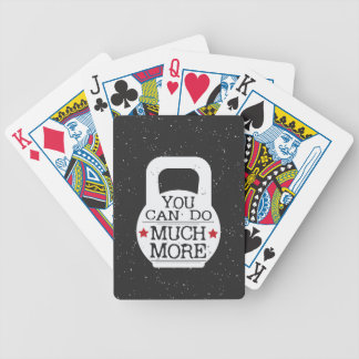 Kettlebell Print - You Can Do Much More Bicycle Playing Cards