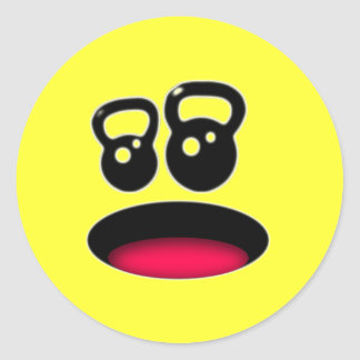 Kettlebell Smiley Sticker