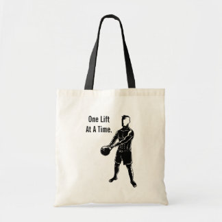 Kettlebell Weights Workout Fitness Motivational Tote Bags