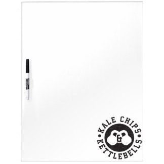 Kettlebells and Kale Chips - Funny Novelty Workout Dry Erase Board