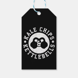 Kettlebells and Kale Chips - Funny Novelty Workout Gift Tags