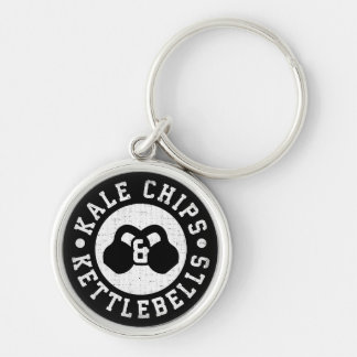 Kettlebells and Kale Chips - Funny Novelty Workout Keychain
