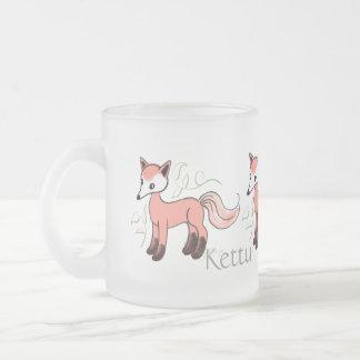 Kettu -- Cute Finnish Fox Frosted Glass Coffee Mug