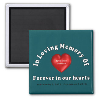 Kevin David Thomason Personalized Custom Memorial Square Magnet
