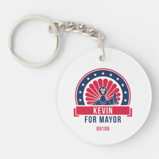 Kevin for Mayor 06109 Keychain