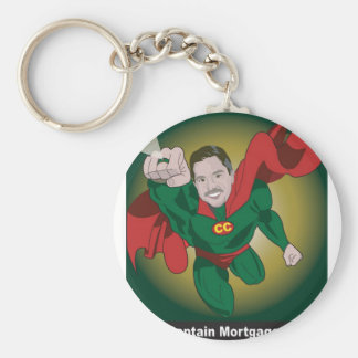 Kevin Onizuk Captain Mortgage Basic Round Button Keychain