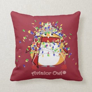 Kevin Tangled in Lights Throw Pillow