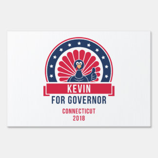 Kevin the Turkey for Governor Yard Sign