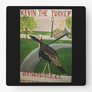 Kevin The Turkey Gifts Square Wall Clock