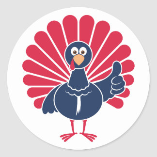 Kevin the Turkey Thumbs Up Sticker