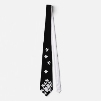 Key Bored Snowstorm Tie