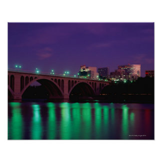 Key Bridge crossing the Potomac River Poster