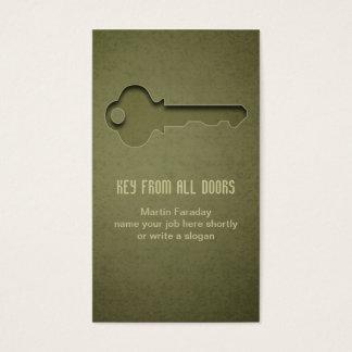 key business card