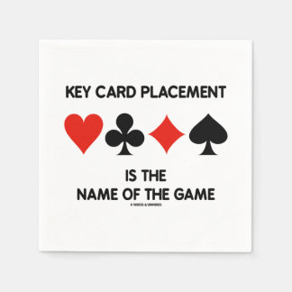 Key Card Placement Is The Name Of The Game Disposable Napkin