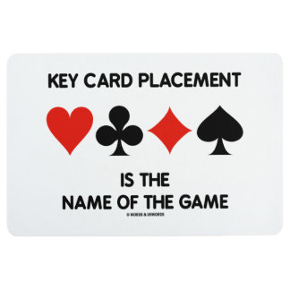 Key Card Placement Is The Name Of The Game Floor Mat