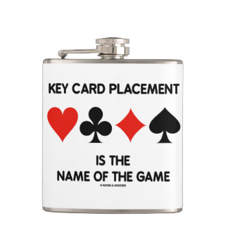 Key Card Placement Is The Name Of The Game Hip Flask
