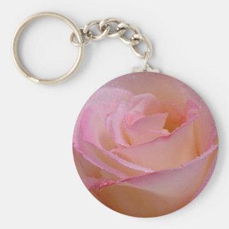 Key Chain Beautiful Pink Rose