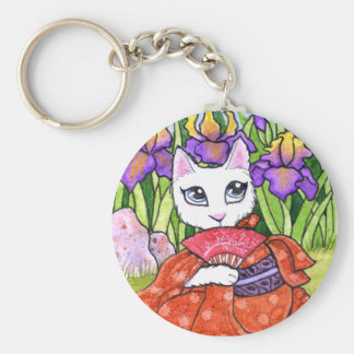 Key Chain Cat Geisha Fairy Fantasy by Ann Howard