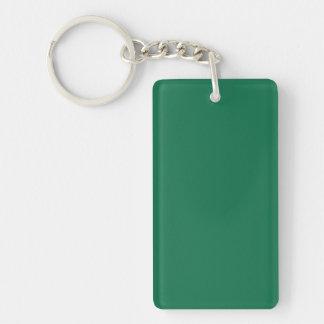 Key Chain: DARK GREEN COLOR Double-Sided Rectangular Acrylic Keychain