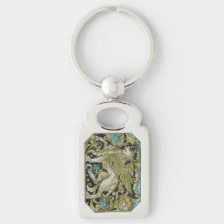 Key Chain--Deruta Tile Lion Keychain