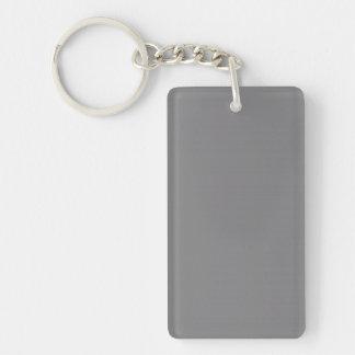 Key Chain: GREY COLOR Double-Sided Rectangular Acrylic Keychain