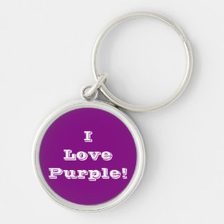 Key Chain I Love Purple