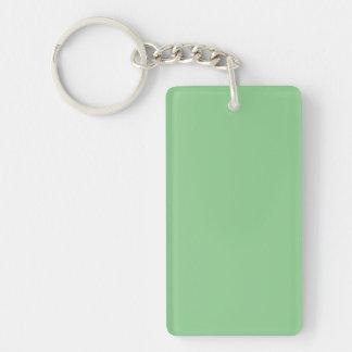 Key Chain: PISTACHIO GREEN Double-Sided Rectangular Acrylic Keychain