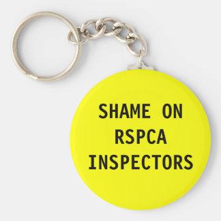 Key Chain Shame On RSPCA Inspectors