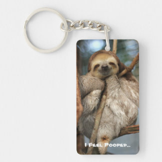 Key chain with baby sloth that feels pooped...