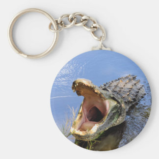 Key Chain with Open Mouthed Alligator