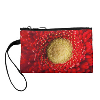 Key Coin Clutch  -  Red Gerbera Coin Wallets
