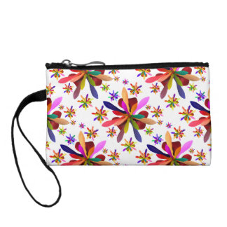 Key Coin Clutch with Stylized Flower 1