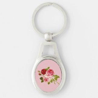 Key holder of three roses keychain