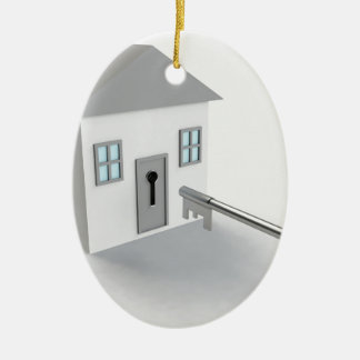 Key Home, Real Estate Agent, Selling Ceramic Oval Ornament
