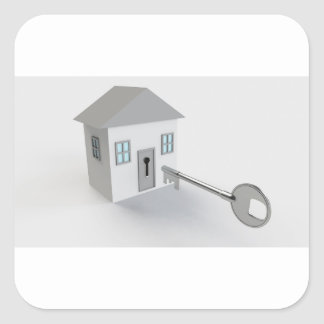 Key Home, Real Estate Agent, Selling Square Sticker