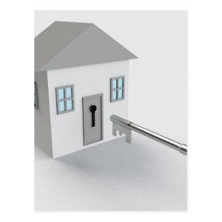 Key Home, Realtor, Real Estate Agent, Selling Postcard