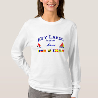 Key Largo FL Signal Flags T-Shirt